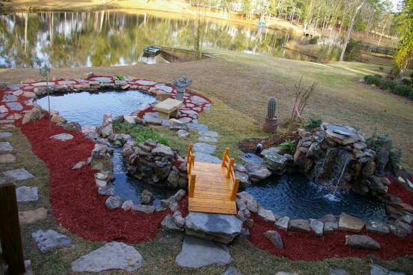 124 best images about koi fish ponds and water features for Large outdoor fish ponds