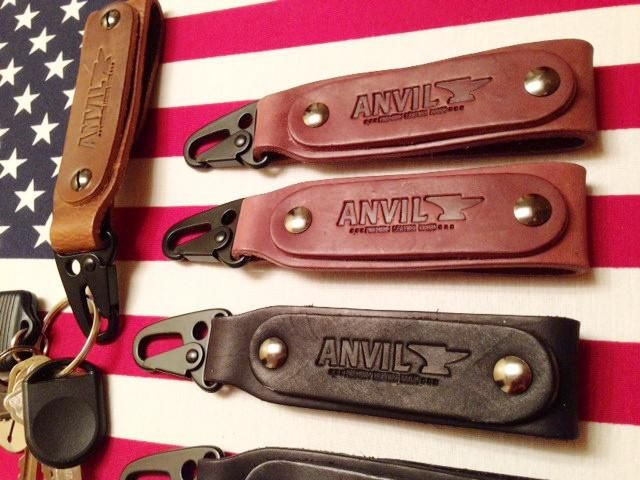 Anvil Leather Key Fob / Belt Hanger - Anvil Customs