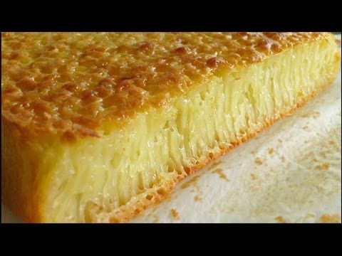 Honeycomb cake Recipe: http://kitchentigress.blogspot.sg/2012/09/kuih-bingka-ambon-video.html  Bika Ambon is a cake from, not Ambon, but Medan. Aka kuih bingka Ambon and kueh bengka Ambon, the Indonesian cake may be found in Malaysia and Singapore too. See the coconut milk and sugar caramelized on the top and sides? If thats not delicious, I dont know what i...