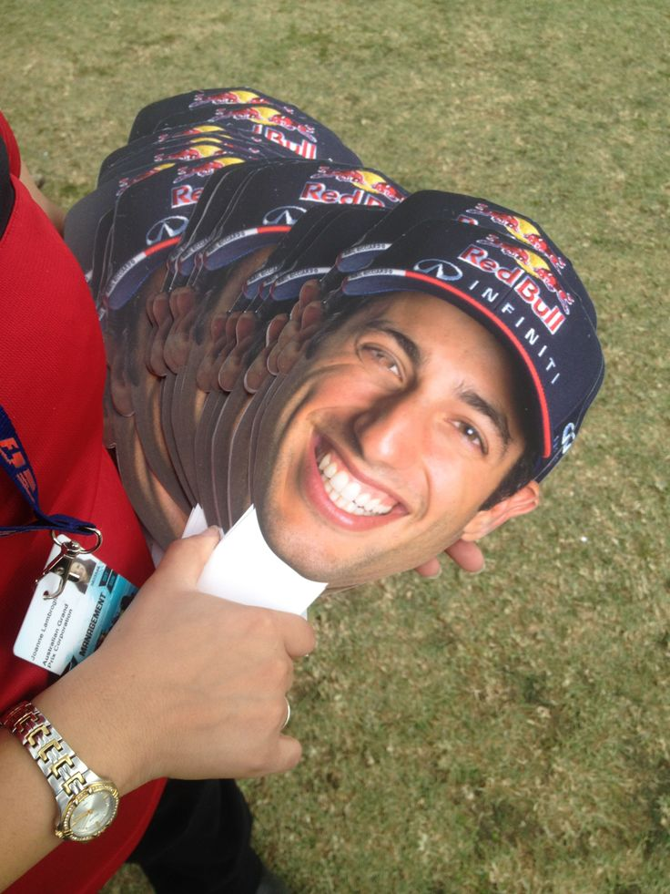 These Daniel Ricciardo face masks became a huge hit at the AUS GP 2014.