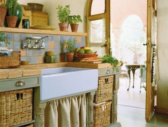 Кухня в деревенском стиле (кантри) - дизайн интерьера, своими руками, мебель, 116 фото