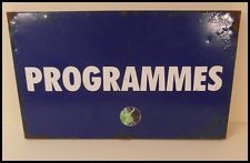 VINTAGE, ST ANDREWS - BIRMINGHAM CITY FC, METAL PROGRAMME SIGN FROM THE GROUND.