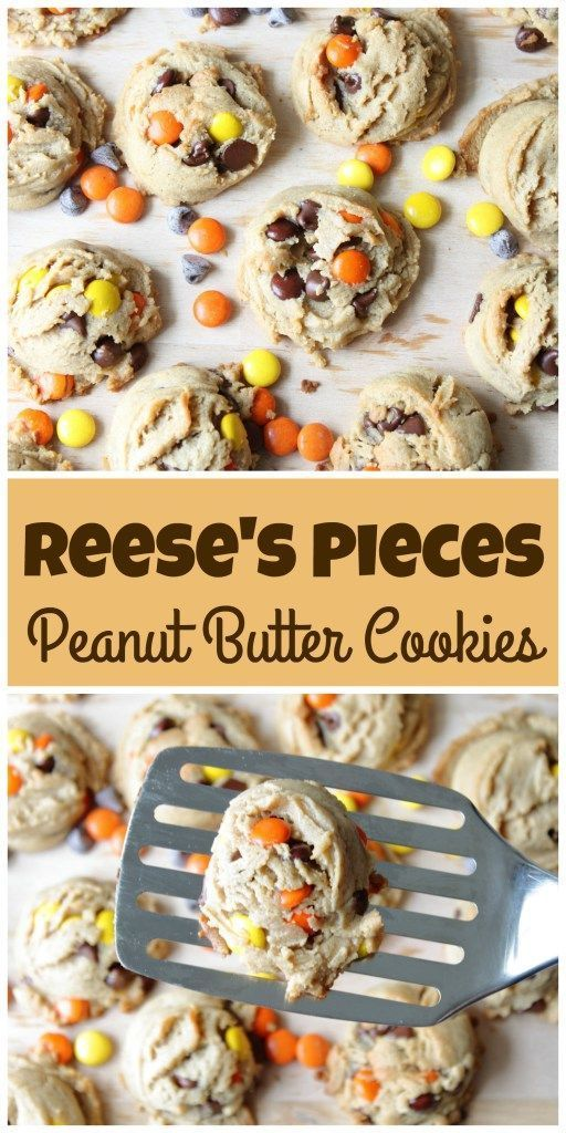 Ohh you peanut butter lovers are gonna die for these cookies...Soft and chewy in the middle with tons of Reese's Pieces and chocolate chips to satisfy any sweet tooth.