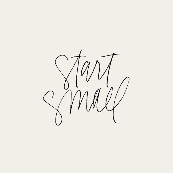 Start Small Handlettering by Kercia Jane Design