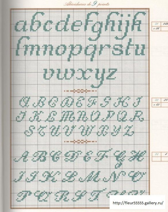 Knitting Cursive Letters : Best images about cross stitch alphabets on pinterest