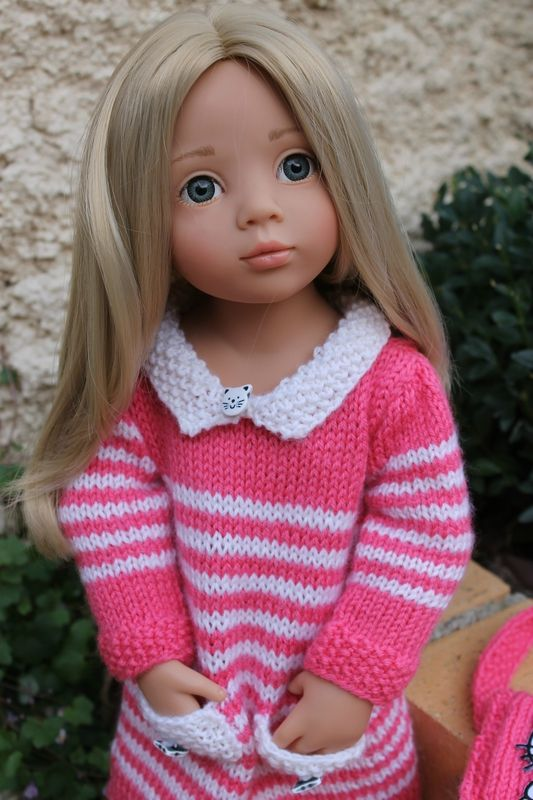 Inspiration knitted doll clothes
