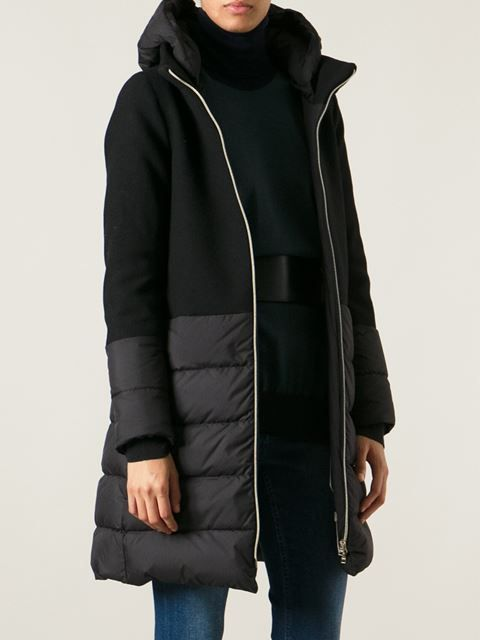 Herno Paneled Padded Coat - Dolci Trame - Farfetch.com