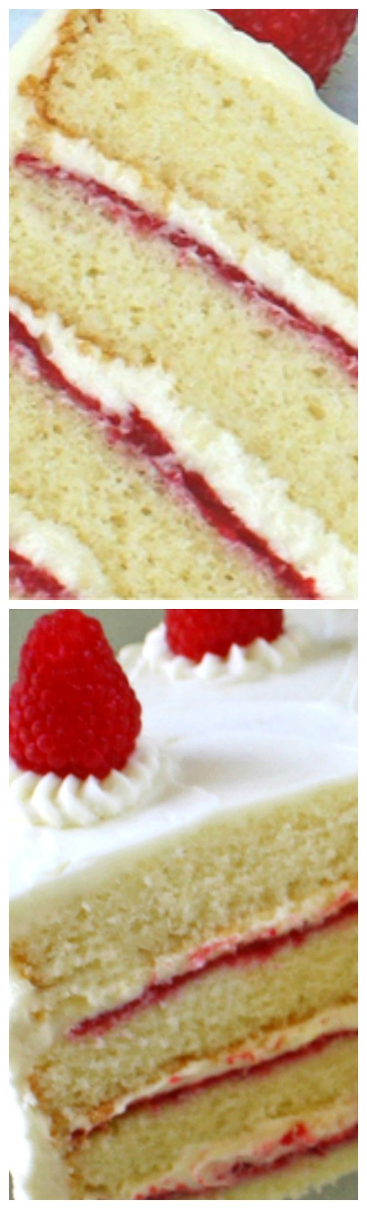 White Chocolate Raspberry Cake ~ White Chocolate and raspberries are a match made in heaven.