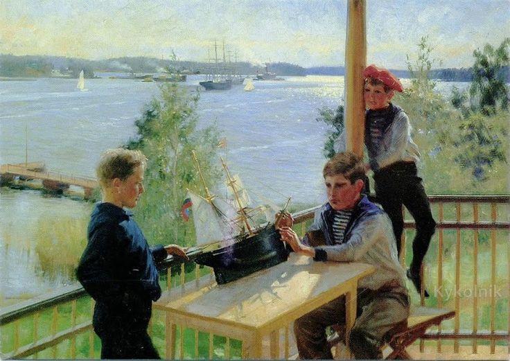 Albert Edelfelt «The Eklof Boys on the Veranda of Villa Sjokulla»