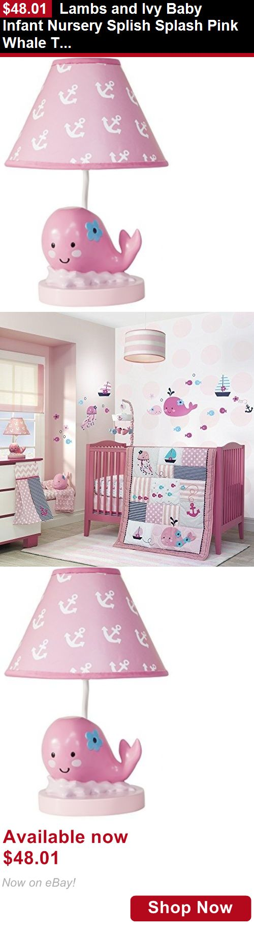 Baby Lamps And Shades: Lambs And Ivy Baby Infant Nursery Splish Splash Pink Whale Table Lamp With Shade BUY IT NOW ONLY: $48.01