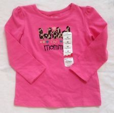 Jumping Beans Baby Girls Pink Long Sleeve Cotton Shirt Wild For Mommy 2T