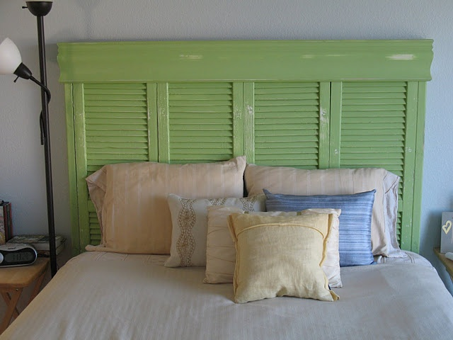 making a headboard out of shutters 2