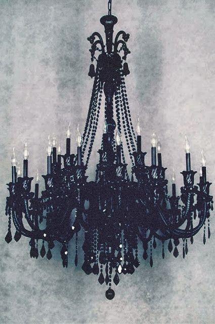 Black Chandelier - Love this....