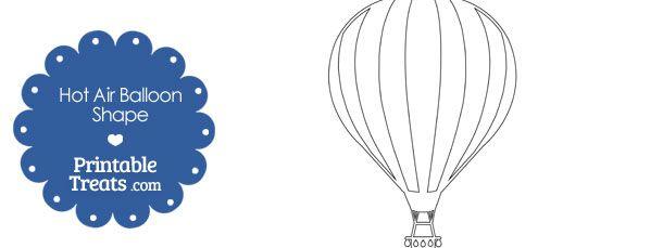 Printable Hot Air Balloon Shape