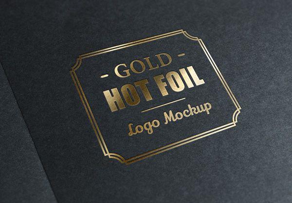 GMF: Free download Gold Stamping Logo MockUp