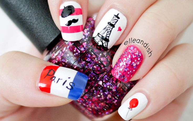Paris Nails (...please DO NOT repeat my reversed flag mistake! Found out after uploading)