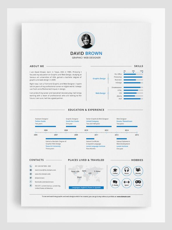 Simple Infographic Resume Design  Misc    Infographic