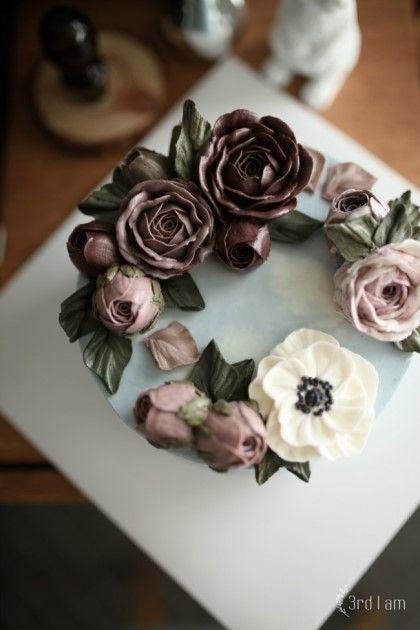 dark hazelnut flower cake : 네이버 블로그