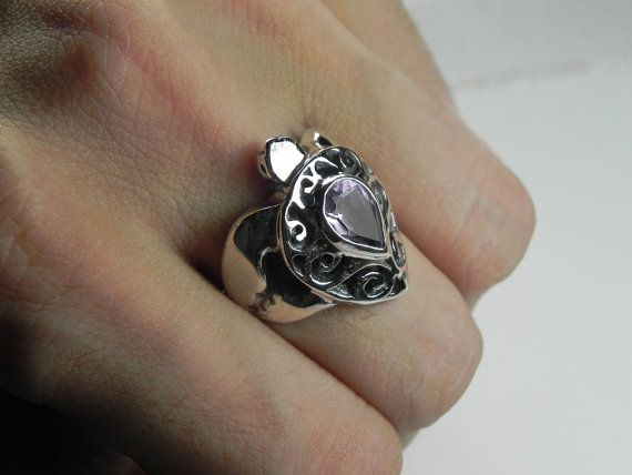 Turtle Ring Sea Turtle Ring Sterling Silver by FantaSeaJewelry