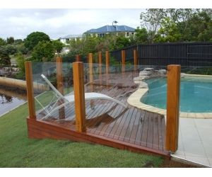 iLandscape :: Products :: Decking Around Pool - Alexander Landscapes - Sunshine Coast