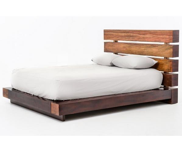 Tête et base de lit en bois de grange/Barn wood bed frame