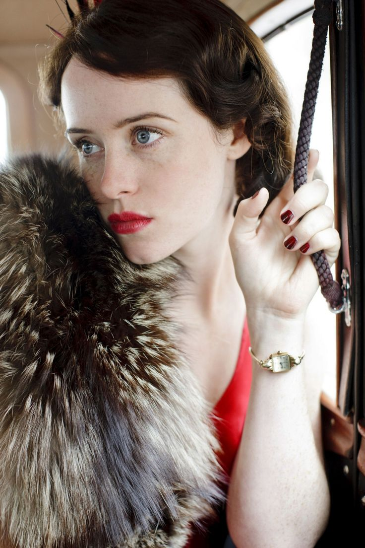Claire Foy, vintage style.