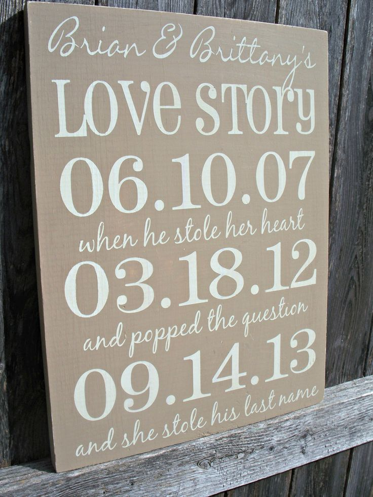 personalized important date sign wedding gift anniversary family gift special