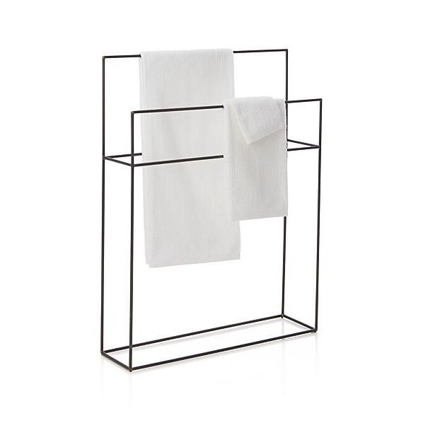 Ultrapractico Bath Jackson Floor Stand Crate And Barrel Iron Towe