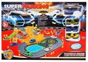 100.000  Track yang di lengkapi dengan 3 mobil mini, 1 heli dan rambu-rambu lalu lintas.Volume 2kg.