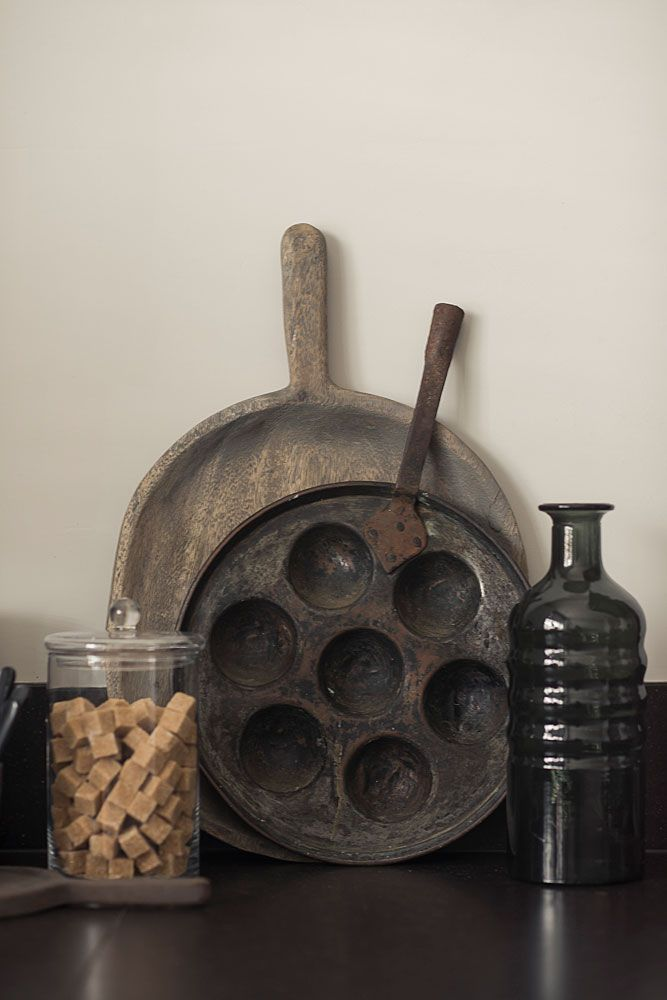 oud houten schaal hoffz