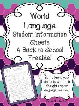best 25 student information sheets ideas on pinterest