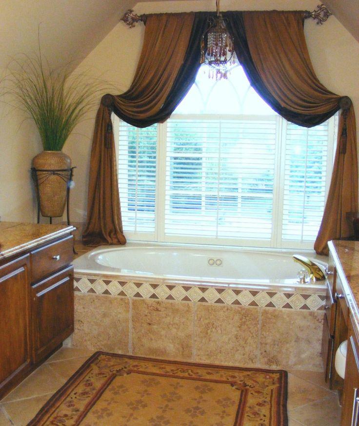 Bathroom modern bathroom blind and curtain design ideas - Bathroom curtains window treatments ...