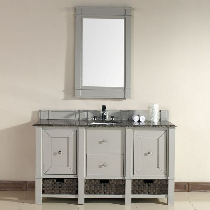 Delicieux Madison 60u201d Traditional Single Sink Bathroom Vanity In Dove Gray By James  Martin Model #