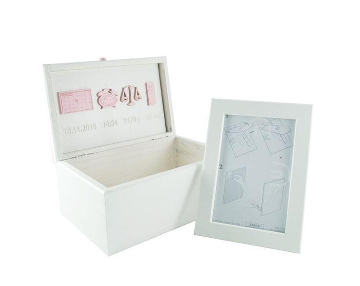 Pudeleczko z Metryczką róż grawer + ramka Gratis - ART-Laser - Pamiętniki dla dzieci