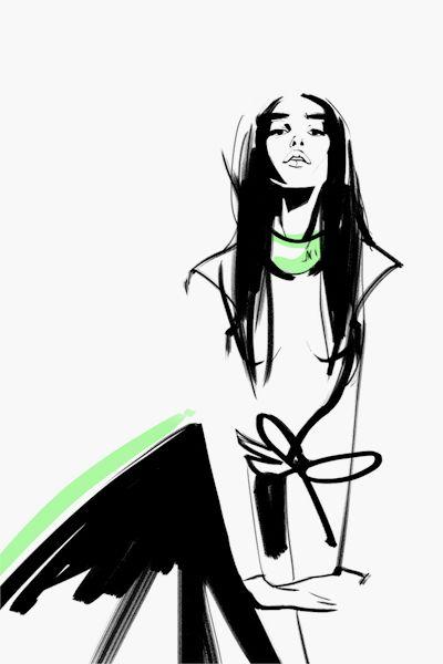 Fashion illustrations on Behance