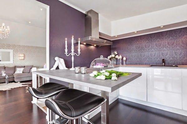 Новая кухня: на чём можно и нельзя экономить | фиолетовая кухня purple kitchen