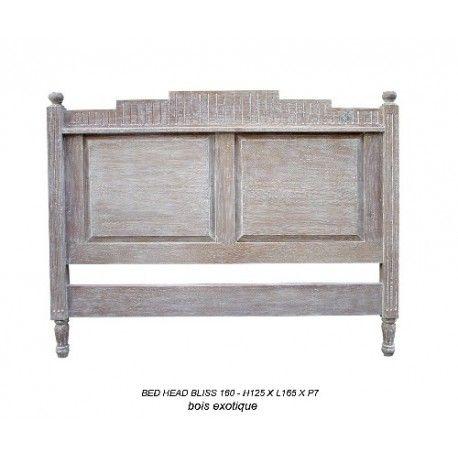 Tete de lit en bois : tete de lit 160 cm en bois ceruse modele bliss sur notre magasin déco paris. Vente en ligne tete de lit 160 cm en bois ceruse modele bliss au prix discount sur Deco-privee.com