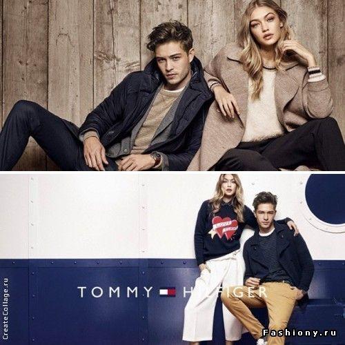 Джиджи Хадид и Франциско Лачовски в рекламной кампании Tommy Hilfiger