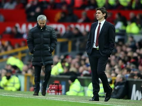 Middlesbrough FC Head Coach Aitor Karanka reacts to Premier League match at Manchester United on New Years Eve