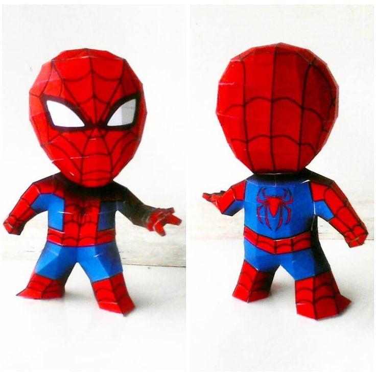 Spiderman chiby (20 cm) . . #paper #prakarya #papercraft #DIY #karton #kertas #kerajinan #Kreatif #Creative #superhero #comic #marvelcomic #spiderman #amazingspiderman
