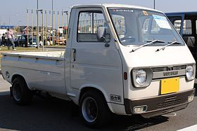 A 1976 Suzuki Carry kei truck, pretty cool looking