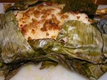 Toad in the hole and duck in banana leaves recipe