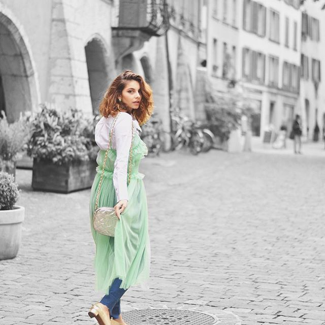 Walking to a new week full of new opportunities, challenges and good energies, in my sheer dress from @mango ✨ how pretty is this dress? #Buonissima #NewWeekNewChallenges #Monday