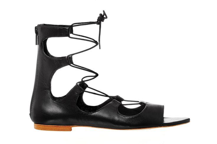 Loeffler Randall Dani Low Gladiators ($450) // Shop this season's must-have shoes at #FASHIONxHudsonsBay