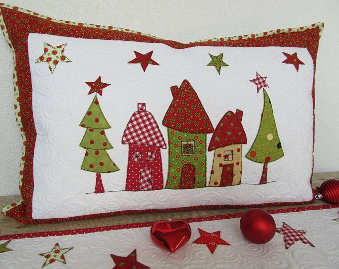 Quilt Pillow Cover Christmas Christmas Quilted Pillow