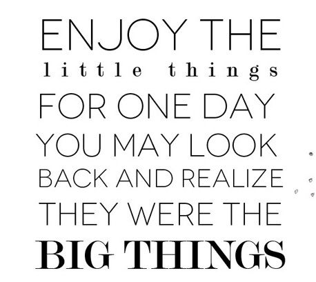 enjoy the little things: Thoughts, Little Things, Big Things, Sotrue, So True, Truths, Mr. Big, Living, Inspiration Quotes