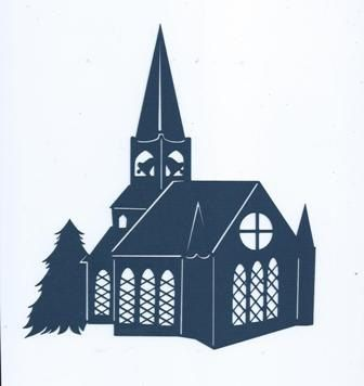 Beautiful Church silhouette by hilemanhouse on Etsy