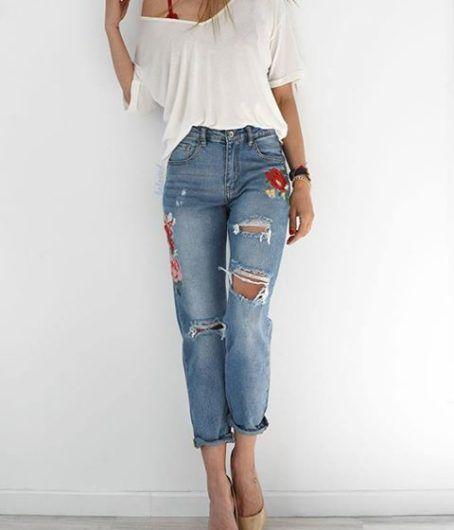 Flower Blue Jean