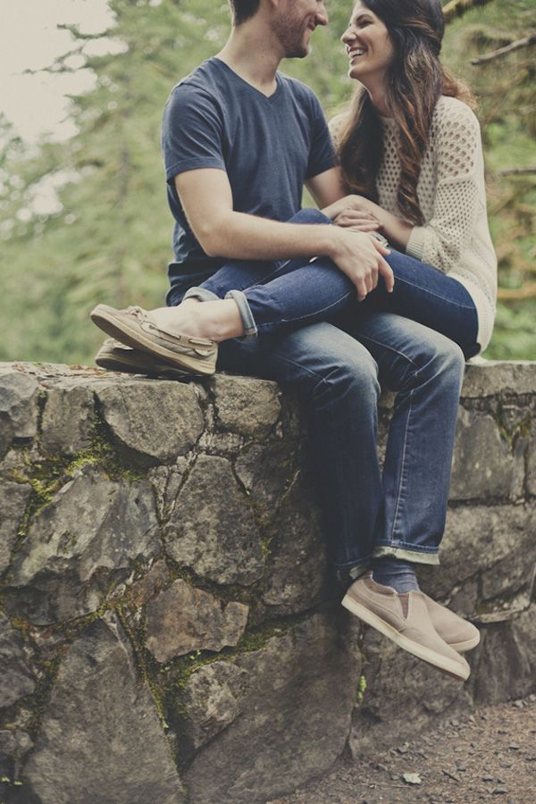 romantic woodland rustic wedding engagement shoot