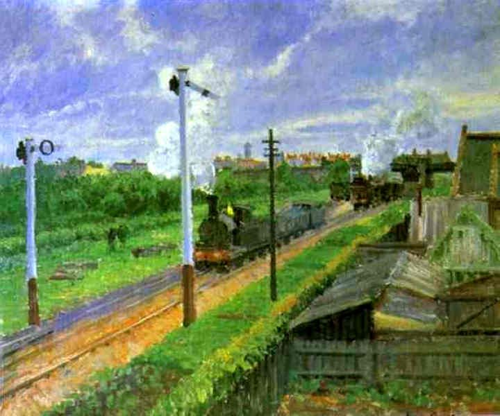 The Train, Bedford Park, 1897  Camille Pissarro